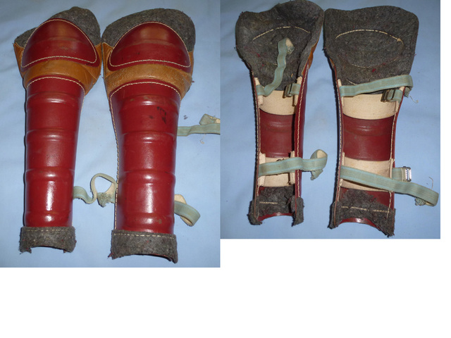 Vintage Ice Hockey Shin Guards - 1940s