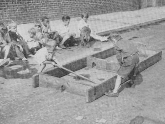 Antique Box Hockey - Streets of Philadelphia - 1930
