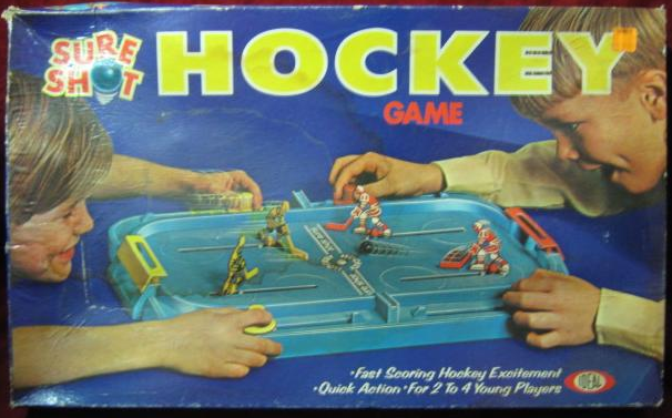 Vintage Sure Shot Hockey Game - Ideal Games - 1970