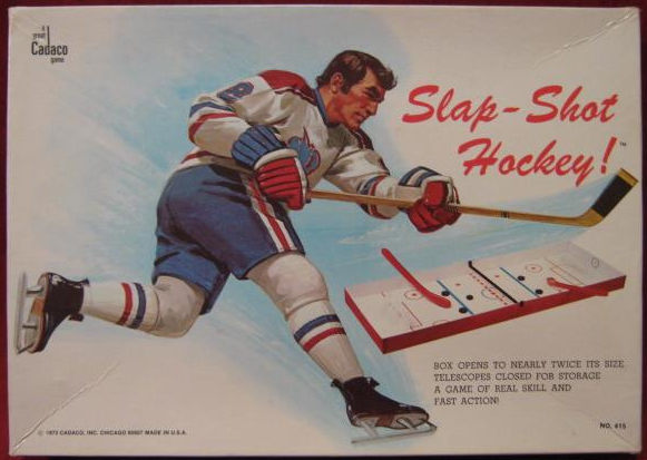 Vintage Table Hockey Game - Cadaco Slap-Shot Hockey - 1973
