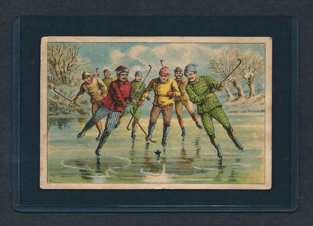 Antique Ice Hockey / Ice Polo - Trade Card - 1888