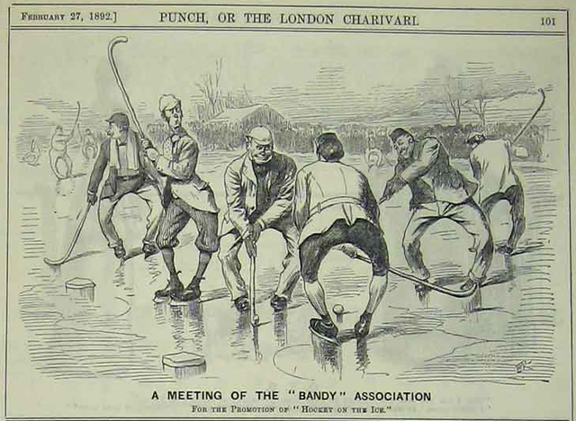 Antique Bandy - A Meeting of The Bandy Association - 1892