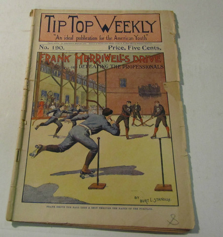 Antique Roller Polo Game - Front Cover - Tip Top Weekly - 1899