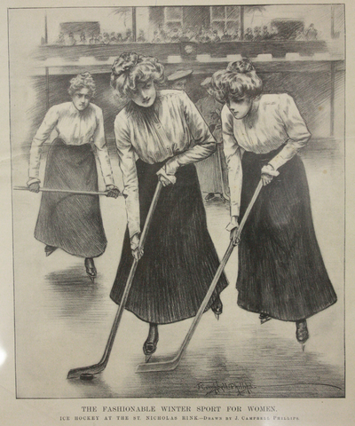 Antique Women's Ice Hockey - St Nicholas Rink - New York - 1900