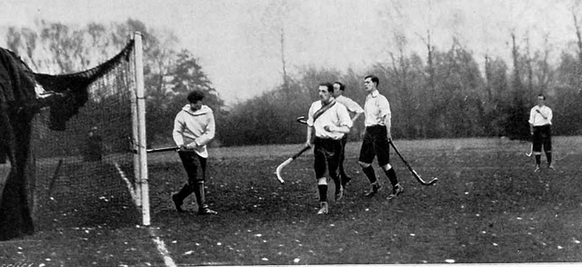 Antique Oxford University Field Hockey Game - November - 1900