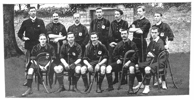 Antique Wales Field Hockey Team - Welsh Men - 1901