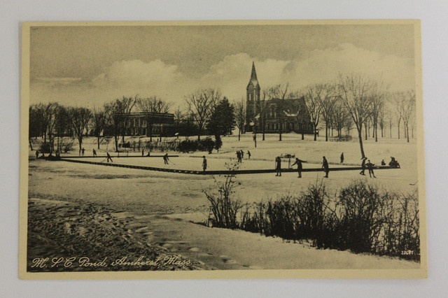 Antique Ice Hockey - University of Massachusetts - Campus Pond