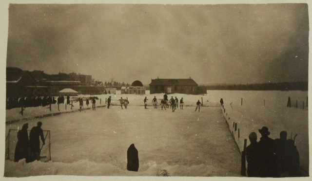 Antique Ice Hockey - Outdoor Rink - Early 1900s