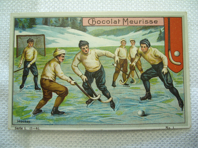 Antique Bandy / Shinty Game - Early 1900s Trade Card - Chocolat