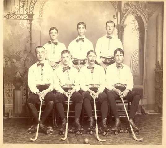 Houghton Roller Polo Team - Champions of Michigan - 1885