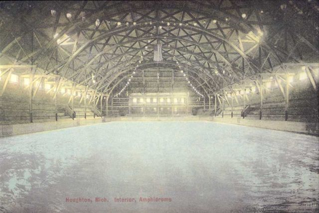 Houghton Amphidrome - Michigan - Interior View - Early 1900s