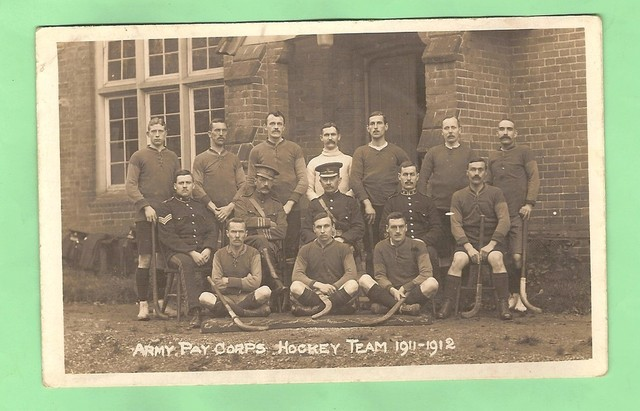 Antique Field Hockey - Army Pay Corps Hockey Team - 1911-1912