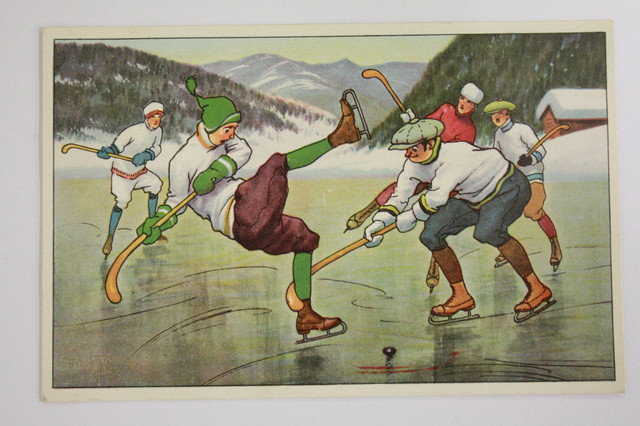 Antique Bandy Ball / Shinty Postcard - 1920s