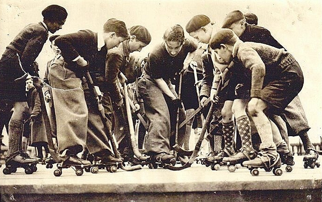 Roller Hockey / Polo played by youth in France - 1936