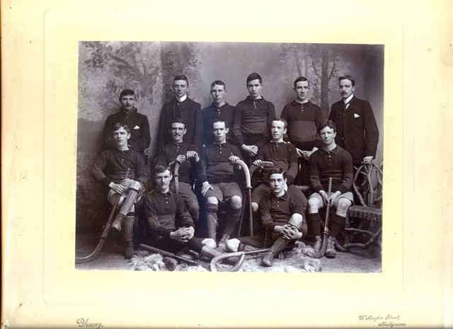 Irish Mens Field Hockey Team - Antique Equipment - Early 1900s