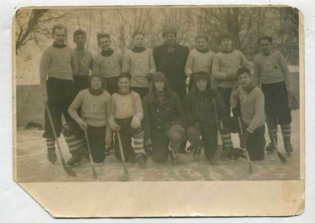 Russian Bandy / Ice Ball Team - 1930s