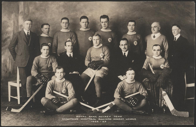 Royal Bank Hockey Team - Champions Montreal Bankers League 1923