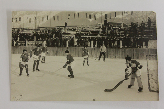Youth Playing Ice Hockey in Chamonix, France - 1923