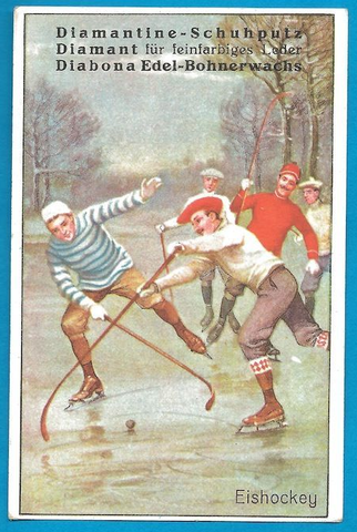 Antique German Bandy Card - 1928
