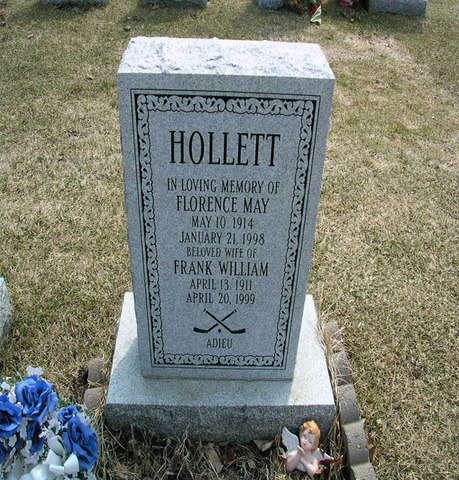 Flash Hollett - Frank William Hollett - Grave Stone - Memorial