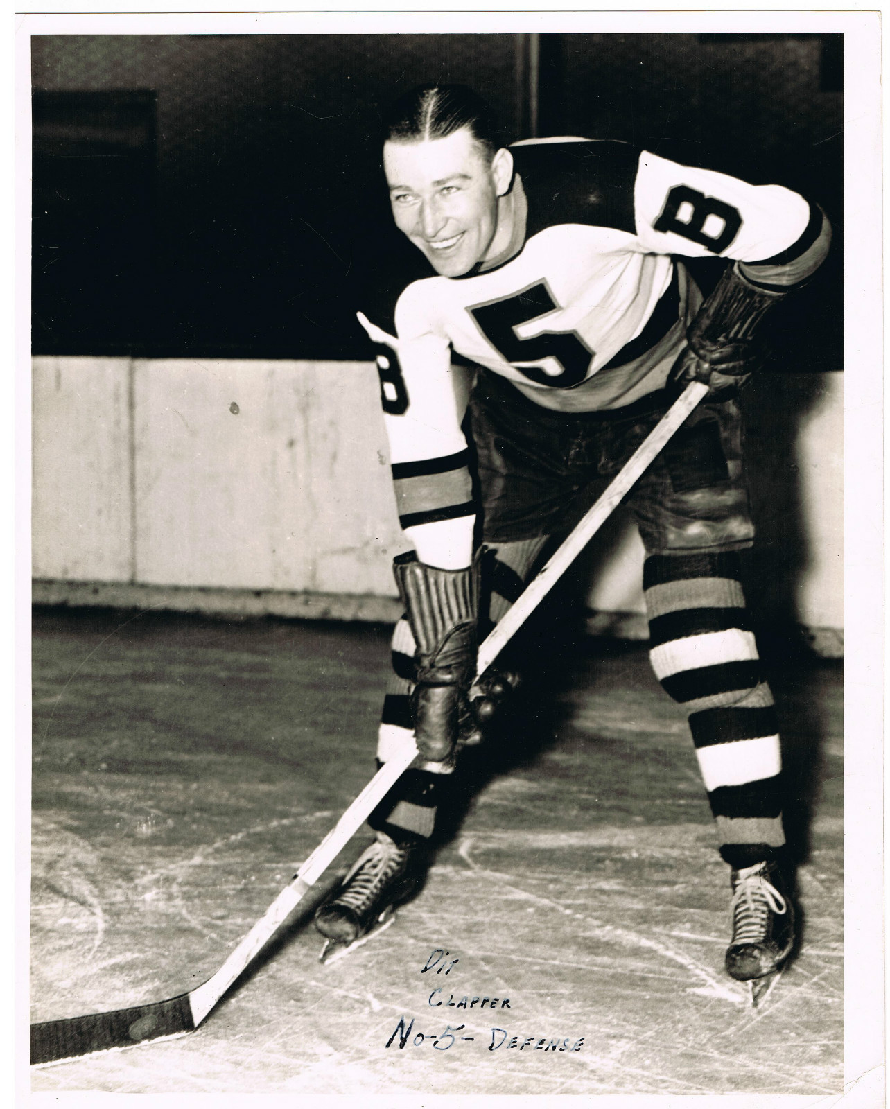 new product 56d9a 13c01 Dit Clapper - Boston Bruins Press Photo - 1930s | HockeyGods