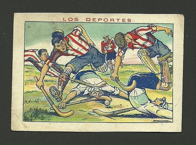 Antique Field Hockey Card - Los Deportes - Spain - 1930s