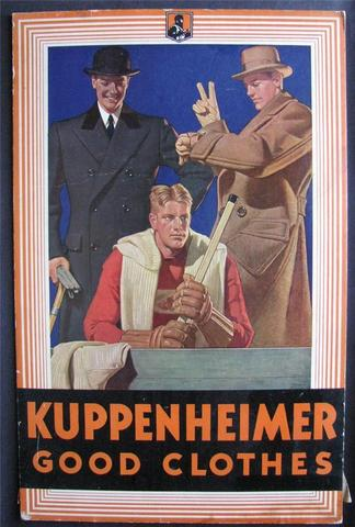 Antique Ice Hockey Display Ad - Kuppenheimer Clothes - 1930s