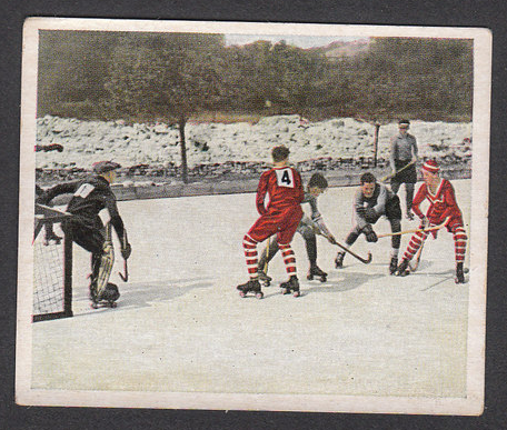 Roller Hockey / Polo - German Hockey Card - 1930s