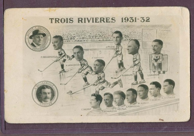 Antique Ice Hockey - Trois Rivieres - Quebec - 1931 / 32