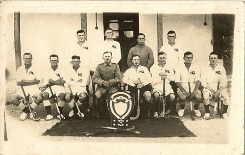 Antique Military Field Hockey Team - 1st Devons - India - 1931