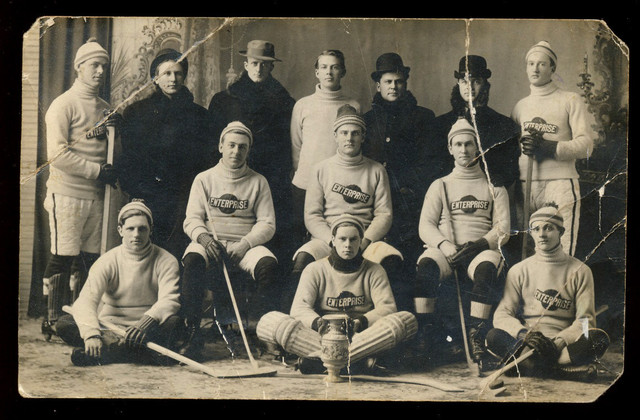 Enterprise Hockey Team - Stone Mills Township - Ontario - 1910