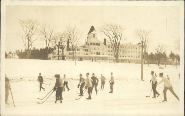 Poland Spring - Outdoor Pond Hockey Game - Circa 1920s