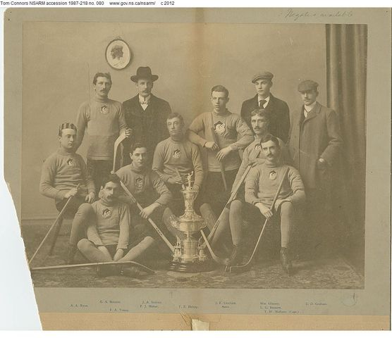 Halifax Crescents - Starr Manufacturing Trophy Champions  - 1898