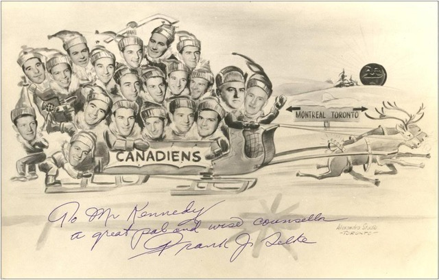Montreal Canadiens Christmas Card - 1946