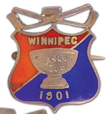 Stanley Cup Pin - Presented to Fred Scanlan - 1901