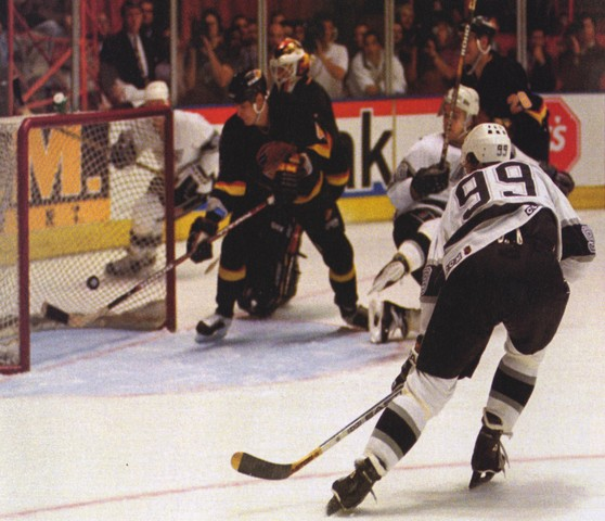 Wayne Gretzky - Los Angeles Kings - 802 Goal - NHL Record - 1994