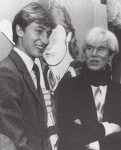 Wayne Gretzky with his Gift - Original Art by Andy Warhol - 1984