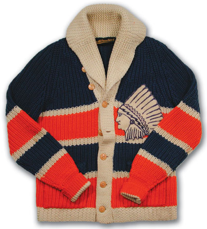 Springfield Indians - Cardigan Sweater - Late 1920s