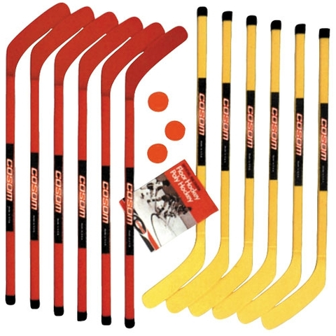 Cosom Hockey Stick Set with Pucks