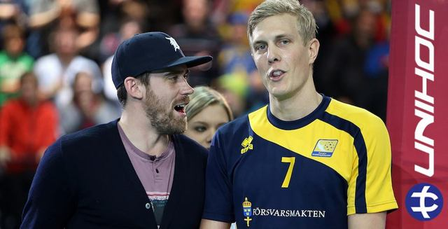 Henrik Zetterberg & World Floorball Champion MVP Kim Nilsson