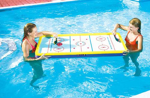 Elegant Floating Swimming Pool Deck Hockey   Table Top Hockey