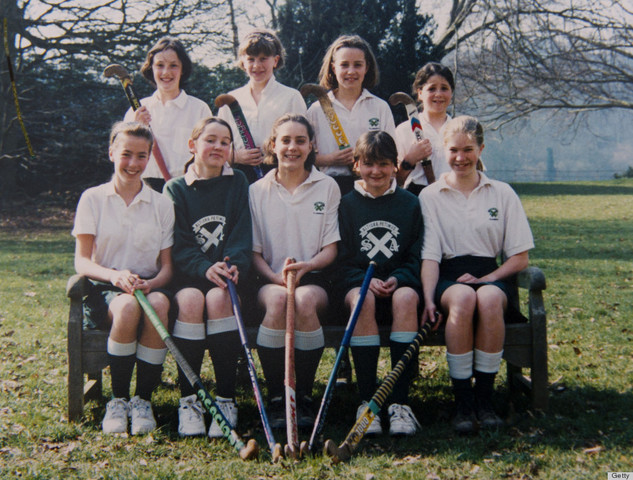Kate Middleton with her St Andrews School Field Hockey Team