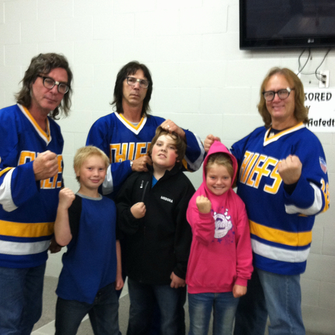 The Hanson Brothers Having Some Fun With Fans