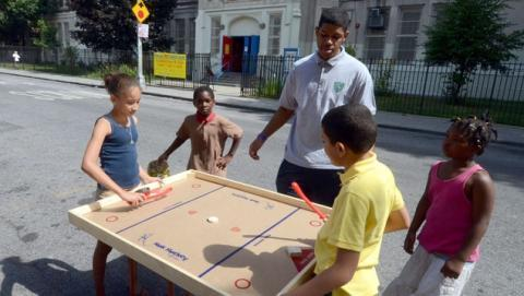 Nok Hockey being played at Police Athletic League - Bronx - 2012