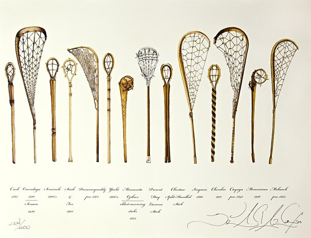 Antique Lacrosse Sticks