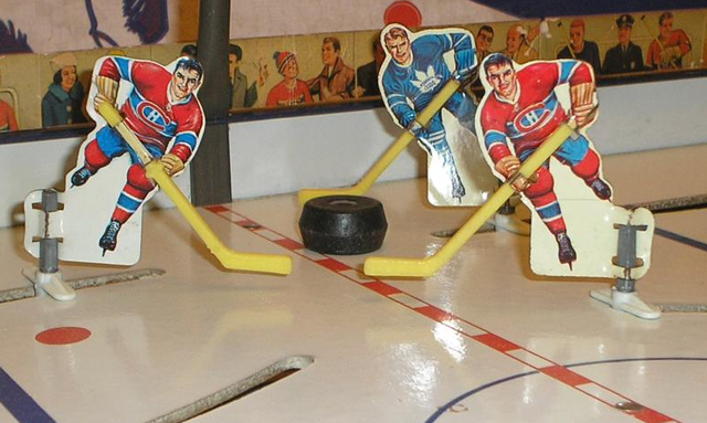 Vintage Table Top Hockey Players - 1965 - Canadiens vs Leafs