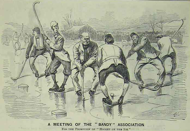 A Meeting Of The Bandy Association - 1892 - Antique Print