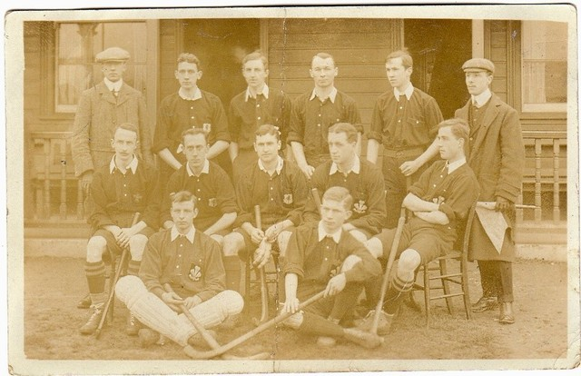 Antique Field Hockey - Wales International Hockey Team - 1905