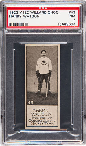 Harry Watson - Willard's Chocolate Hockey Card #43 - 1924