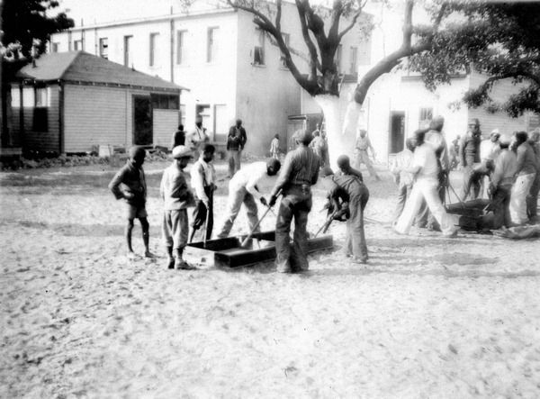 Box Hockey - Boys playing Box Hockey : Miami, Florida - 1935